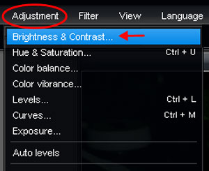 adding brightness, brightening photos